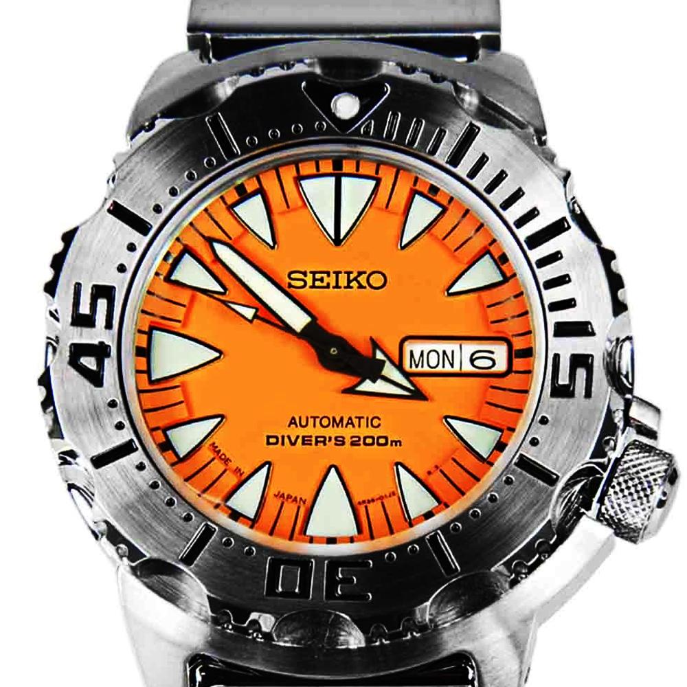 นาฬิกา Seiko Monster Orange Fang SRP 309K