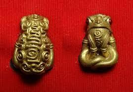 กบกินเดือน มหาลาภ รวยทุกวัน (กบกินเดือน รุ่น2) ครูบาออ สำนักสงฆ์พระธาตุดอยจอมแวะ เนื้อทองสตางค์