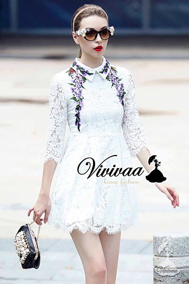 Vivivaa recommend D&G embroider dress