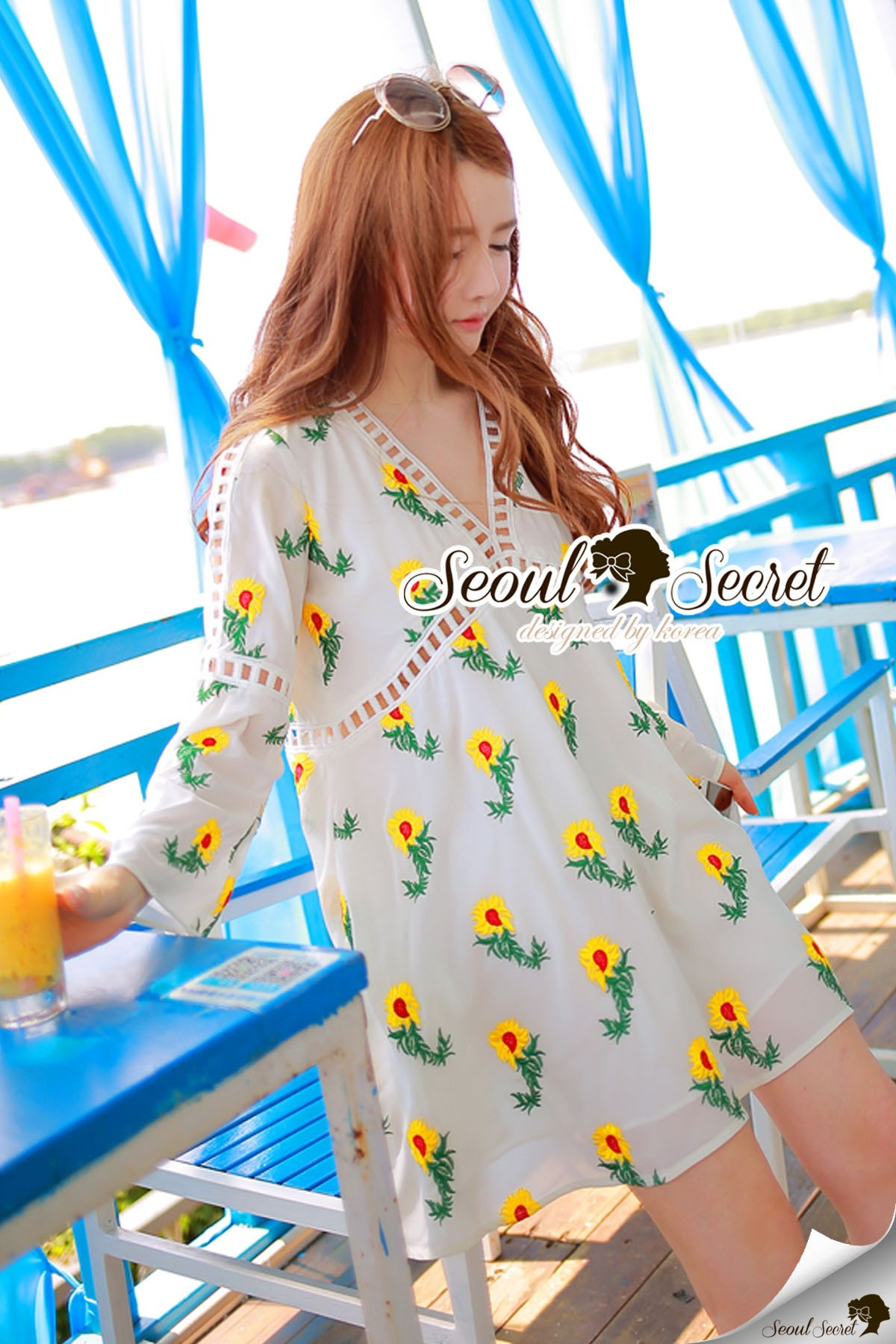 Seoul Secret Say's... Chic Yellow Blossom Sweety Dress