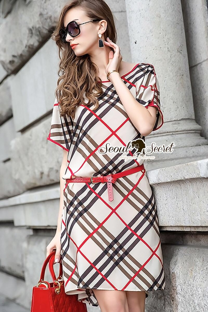 Seoul Secret Say's... Burberry Red Ribbon Dress