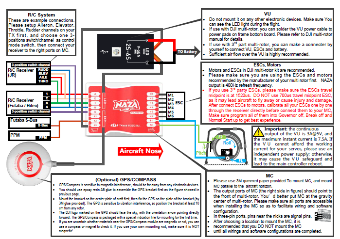 fantastic quadcopter naza wiring diagram photos electrical circuit rh suaiphone org DJI Naza Lite Dimensions DJI Naza Lite Dimensions
