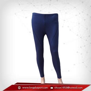 กางเกงรัดกล้ามเนื้อผ้า Spandex ขายาว สีน้ำเงิน-เทา เหลือSize L