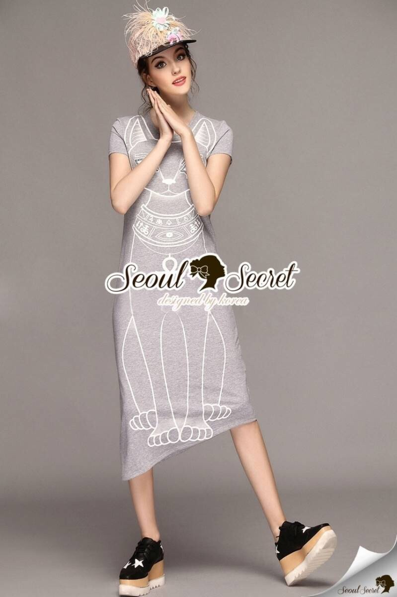 Seoul Secret Say's... Yippy Yippy Little Cat Maxi