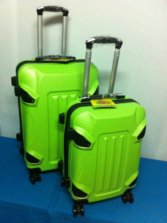 กระเป๋าเดินทางไฟเบอร์ รุ่นรถถังสีเขียวแอปเปิ้ล ขนาด 20 นิ้ว