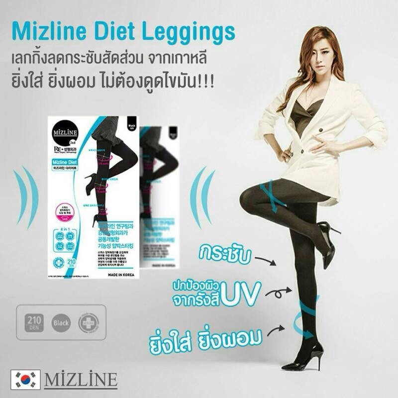 Mizline Let's Diet 2ND LEGGING (Black)
