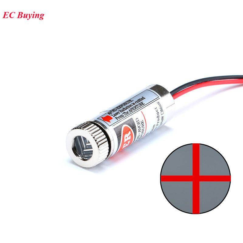 Laser 5mW 12mm tube 650nm เลเซอร์สีแดง 5mW แบบเครื่องหมายบวก