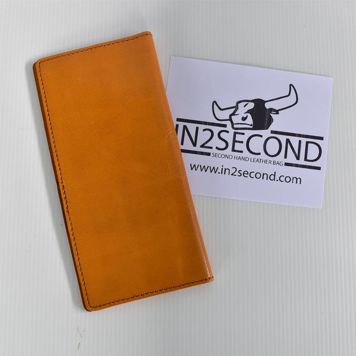 NS-10 กระเป๋าสตางค์ หนังแท้ สีส้ม