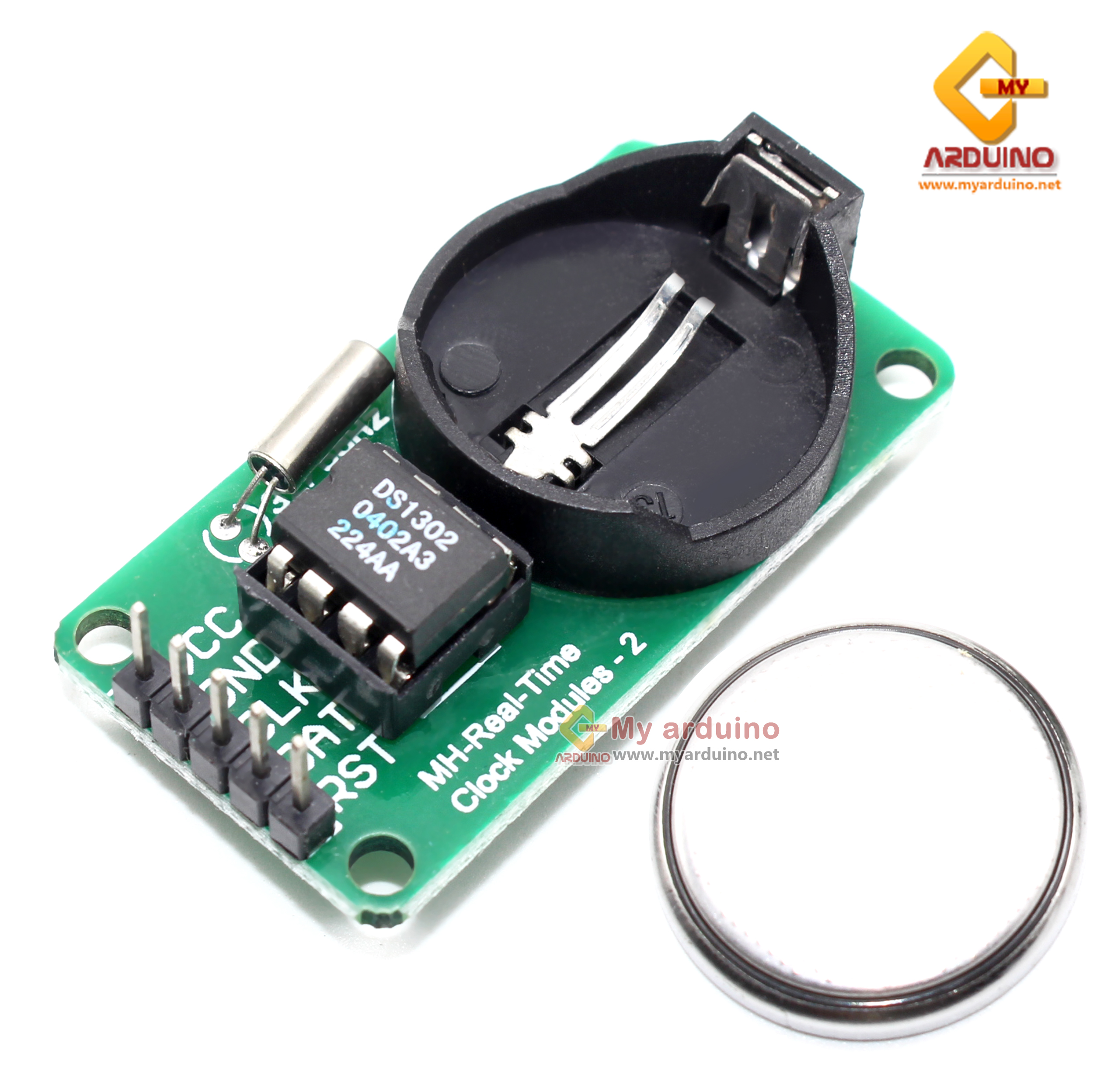 DS1302 โมดูลนาฬิกา RTC Real Time Clock Module with CR2032 3V Battery