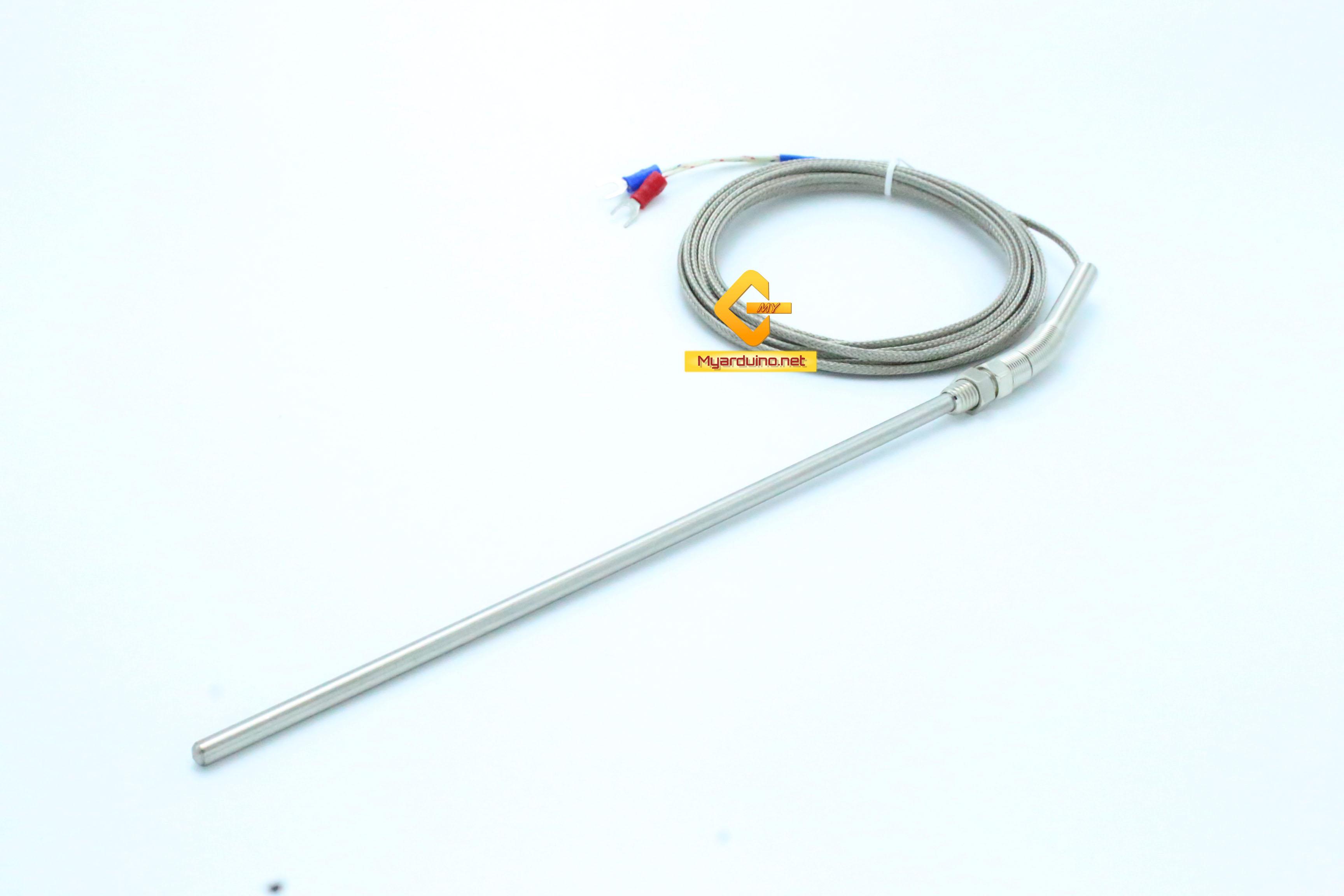 เซนเซอร์วัดอุณหภูมิ K-Type 0-800C ตัวเซนเซอร์ ยาว 200mm สายยาว 3m