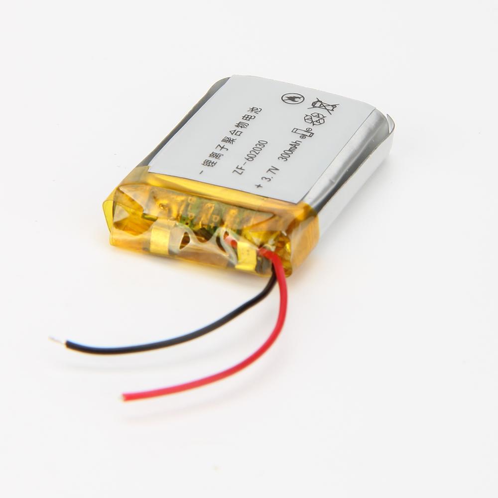 แบตเตอรี่ ลิเธียม 3.7v 300mah Li-polymer 602030