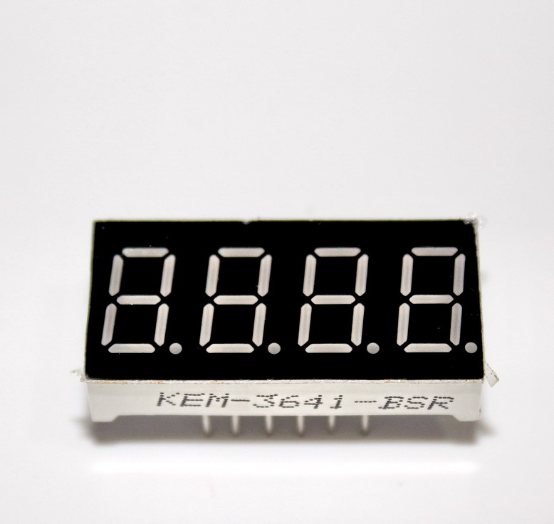 "7 segment 0.56"" Common Anode บวกร่วม RED 4 หลัก"