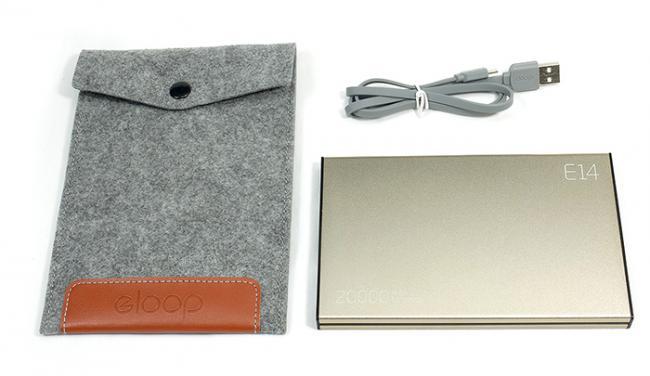 อุปกรณ์ภายในกล่อง ELOOP E14 Power bank Power bank ELOOP E14 แบตสำรอง 20000 mAh ของแท้ 100% , ซองผ้าสำหรับใส่ แบตสำรอง ,สายชาร์จแบตสำรอง (สายชาร์จ Micro USB) ,คู่มือการใช้งาน Power bank ELOOP E14