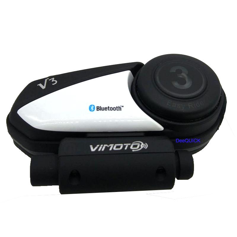 บูลทูธติดหมวกกันน๊อต Helmet Bluetooth Headset Bigbike-Vimoto V3