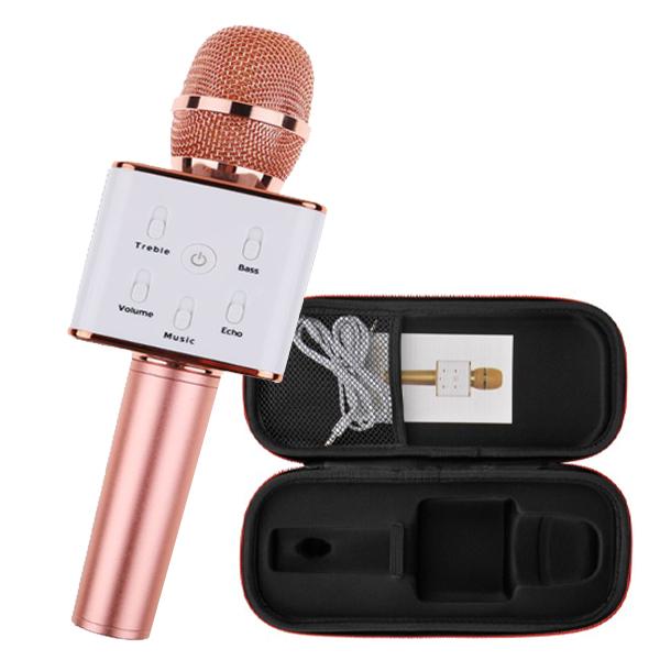 Q7 Wireless Bluetooth Karaoke Microphone – Rose goled
