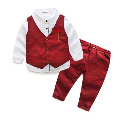 ID320- เสื้อ+กางเกง+เสื้อกั๊ก 5 ชุด /แพค ไซส์ 100-140