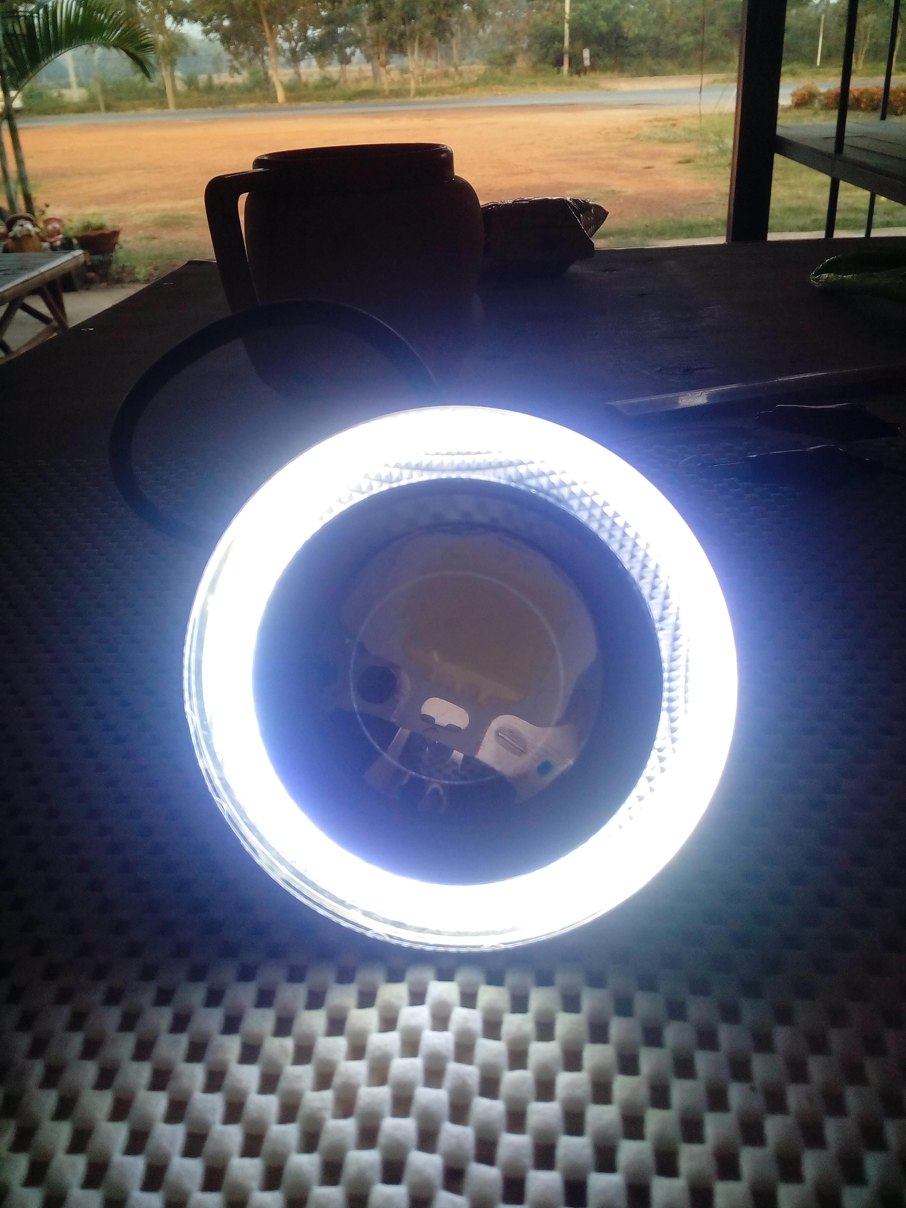 ไฟตัดหมอกหลอด LED แบบมีวงแหวนรอบนอกขนาด 3.5 นิ้ว