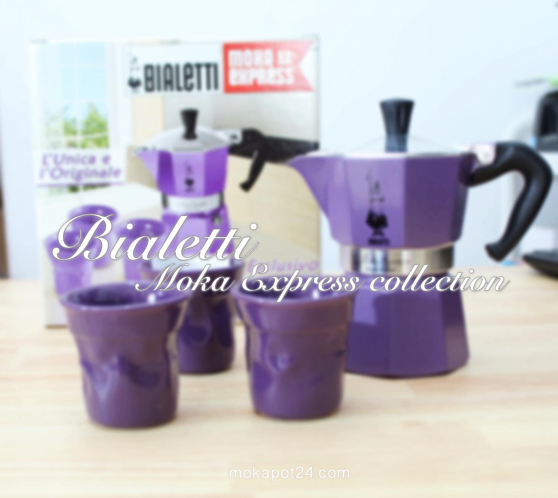 Bialetti moka express 3 Cups ชุด set พร้อมแก้วช๊อตเป็นเซรามิค