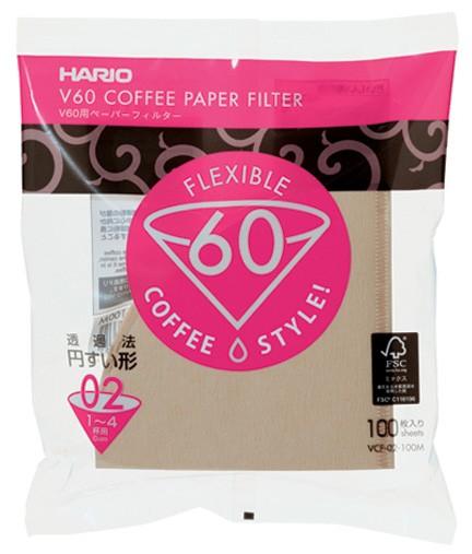 Hario V60 Coffee paper VCF-02-100M กระดาษกรอง สำหรับดริป ขนาด 02 (บรรจุ100 แผ่น)