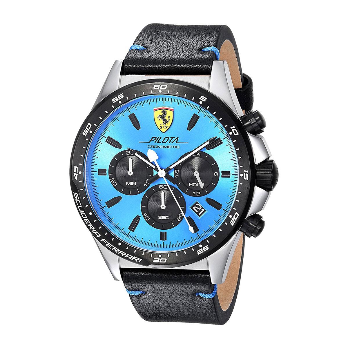 นาฬิกาผู้ชาย Ferrari รุ่น 0830388, Pilota Chronometro