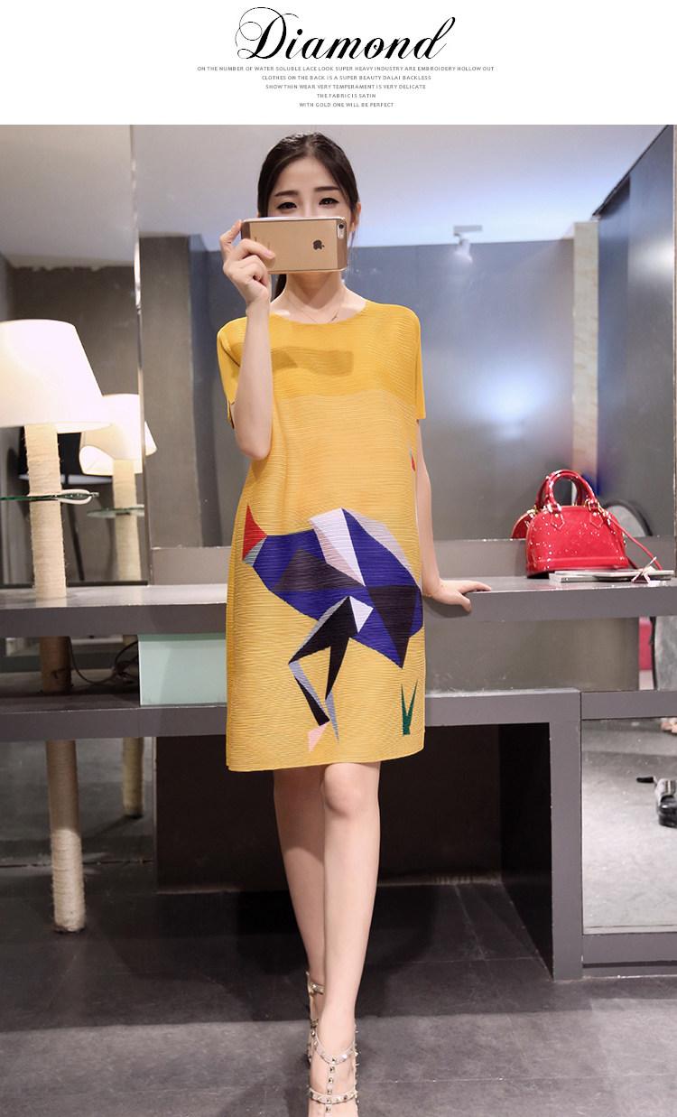 ชุดคลุมท้อง สีเหลือง ลายนก ผ้าดียับยากซักง่าย XL,XXL