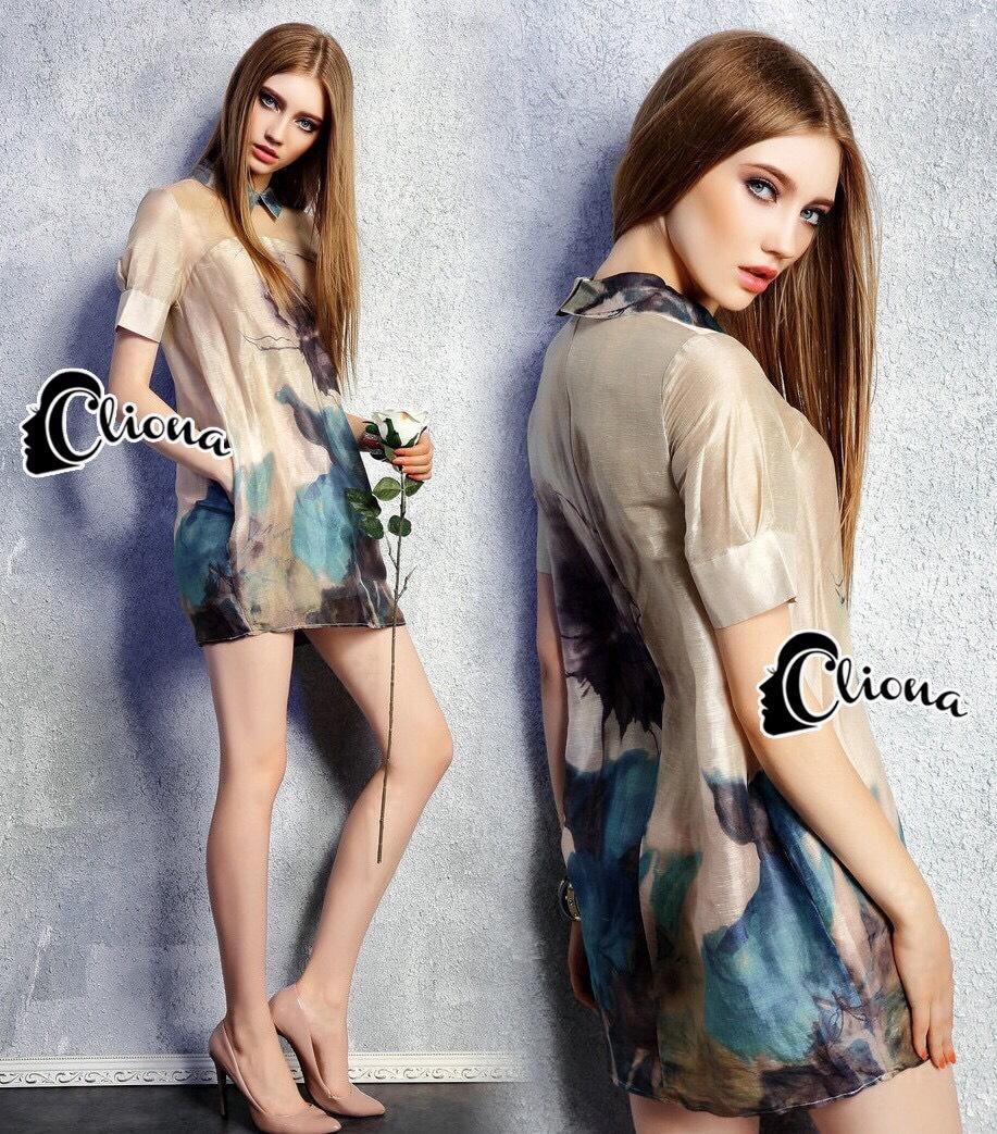 Clona made' Glow Luxury Floral Silk Dress - Mini dress