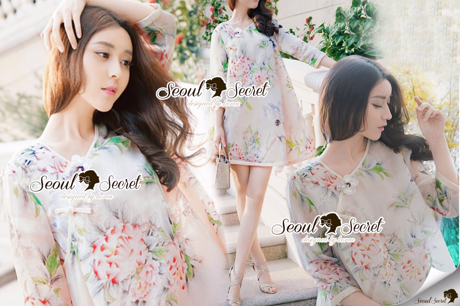 Seoul Secret Say's... Vintage Blossom Color Dress