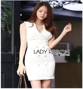 Lady Ribbon Suit Dress ชุดสูทเดรส
