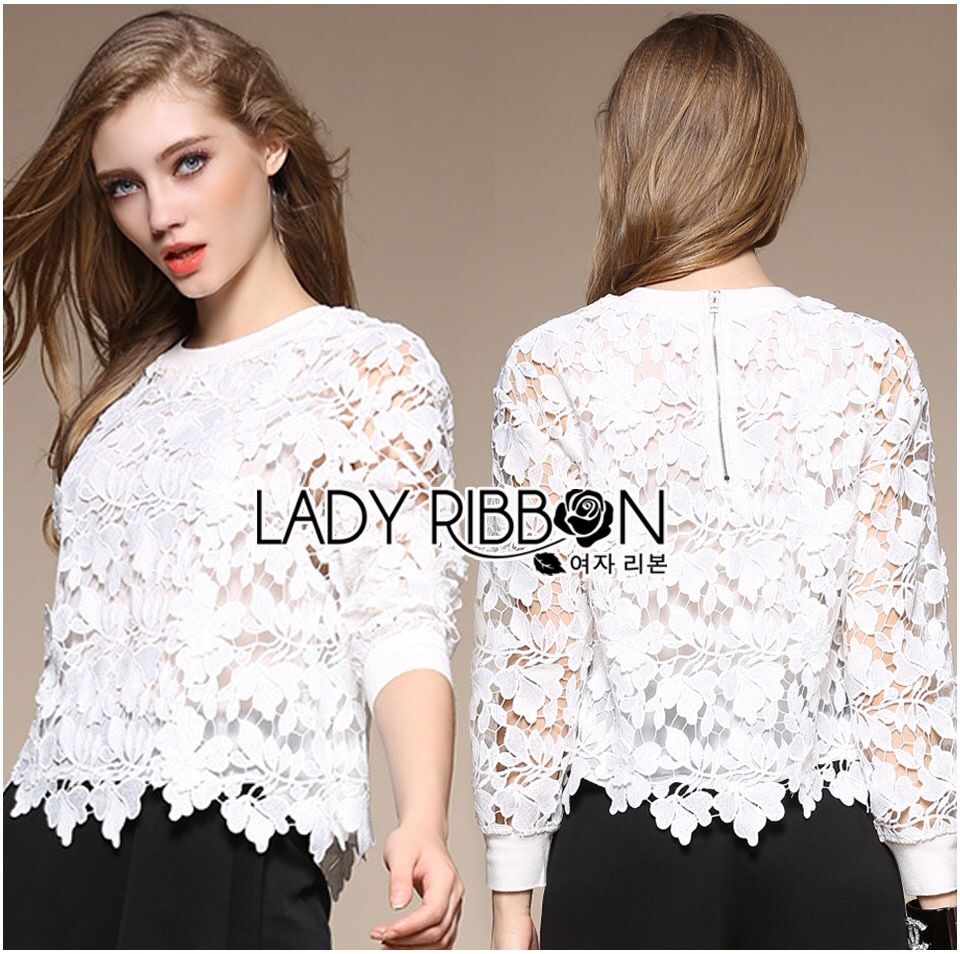 Lady Ribbon's Made &#x1F380 Lady Ella Sweet & Sporty Lace Jumper
