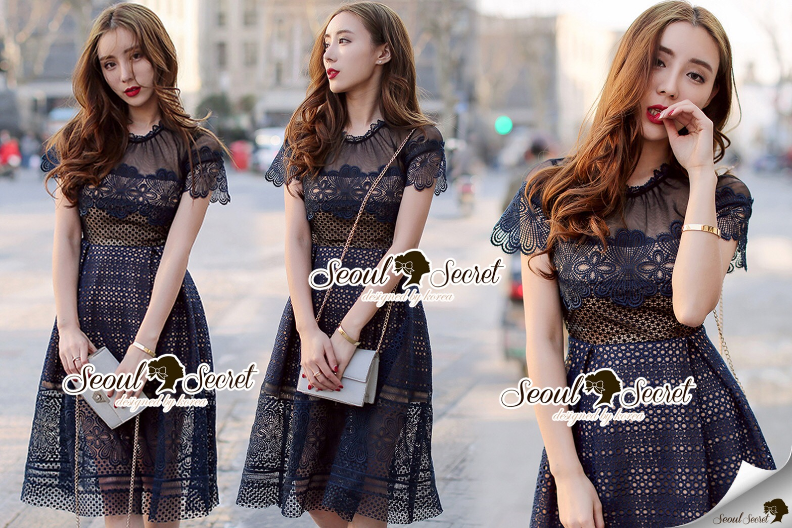 Shop Closet Seoul Secret Say's... Ribbon Lady ddy Belt Foliage Print PlaySuit