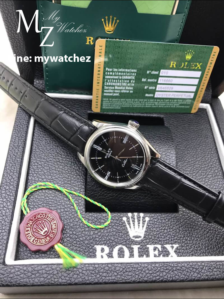 Rolex Cellini Classic Ref:50509 - ฺBlack Dial Stainless