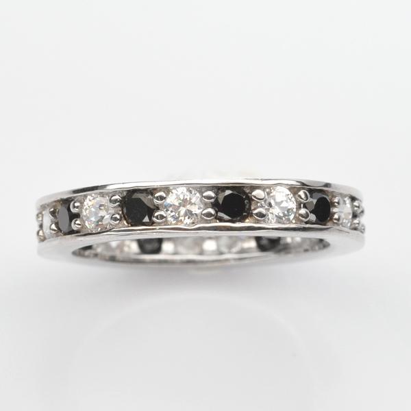แหวนพลอยแท้ แหวนเงิน925 พลอย สปินเนล ประดับเพชร CZ ชุบทองคำขาว