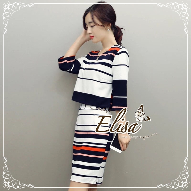 Elisa made Stripe Set Working Smart women