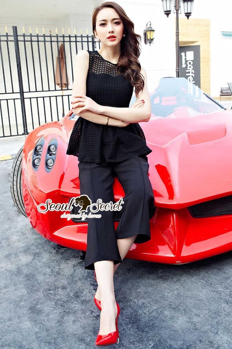 Seoul Secret Say's... Chic Chic Jumper Suit Elegant
