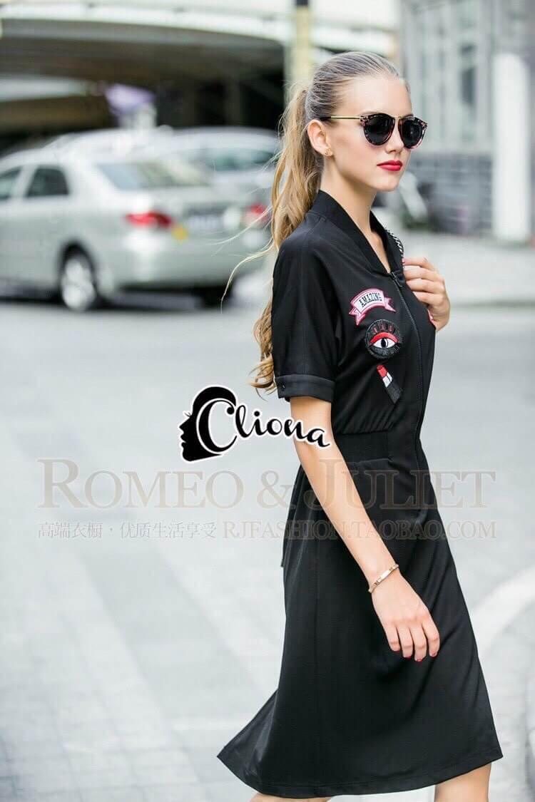 Cliona made' Amazing Kiss Luxury Jump Dress - Dressสีดำ ดีไซ Sport Girls
