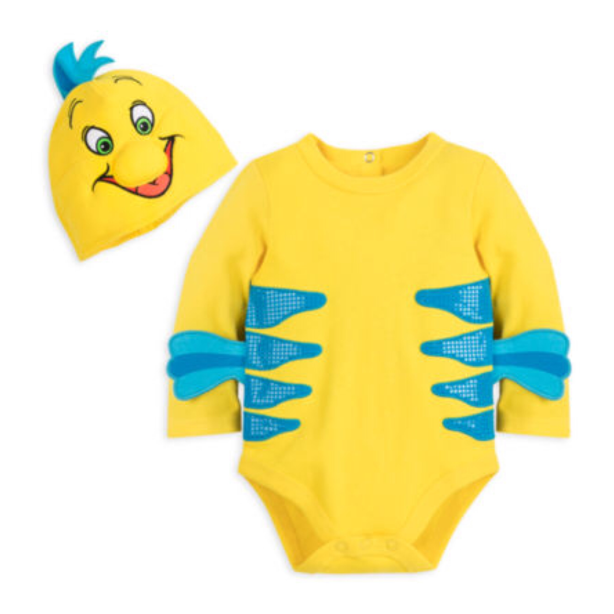 ชุดคอสตูมบอดี้สูทเบบี๋สุดน่ารัก Disney Baby Costume Body Suit (Flounder)