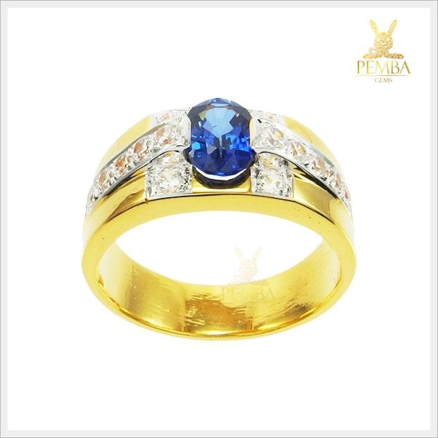 แหวนไพลินแท้ ทองแท้ เท่อย่างมีสไตล์ (สามารถสั่งทำได้ค่ะ)