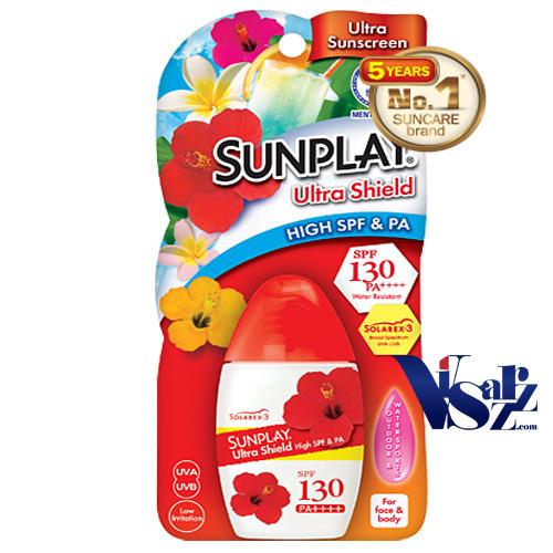 Sunplay Super Block SPF50+ PA++++ 27mL ปกป้องผิวจากแสงแดดด้วยสูตร Solarex-3 มีความคงทนต่อแสงแดดสูงมาก กันน้ำกันเหงื่อได้อย่างดีเยี่ยม และไม่เหนียวเหนอะหนะ