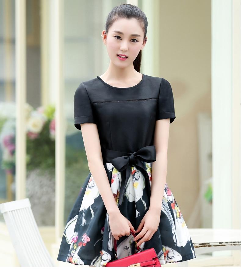 ชุดเดรสสั้นสีดำ แนวสวยหวาน เรียบร้อย น่ารักๆ ใส่เที่ยว ใส่ทำงานได้