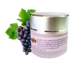 Grape Seed Brightening Cream ครีมองุ่นหน้าใส อุดมด้วยวิตามินและแร่ธาตุ ช่วยให้ผิวขาวใส พร้อมลดเลือนริ้วรอยได้ในหนึ่งเดียว
