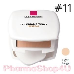 (ราคาเต็ม 850.-) La Roche-Posay Toleriane Teint Mineral Compact-Powder SPF25 9.5g (no.11 Light Beige) แป้งทาหน้าผสมรองพื้นและสารป้องกันแสงแดด