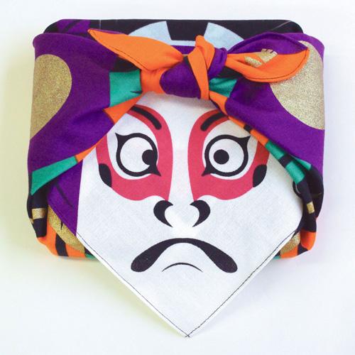 ผ้าห่อเบนโตะ Furoshiki ลาย Fu Kabuki