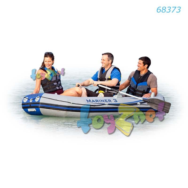 Intex ชุดเรือยางมารีเนอร์ 3 ที่นั่งพร้อมที่สูบลมและพายอลูมิเนียม รุ่น 68373