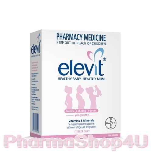 Elevit Vitamin and Minerals 100เม็ด วิตามินสำหรับเตรียมตั้งครรภ์ หญิงตั้งครรภ์และให้นมบุตร