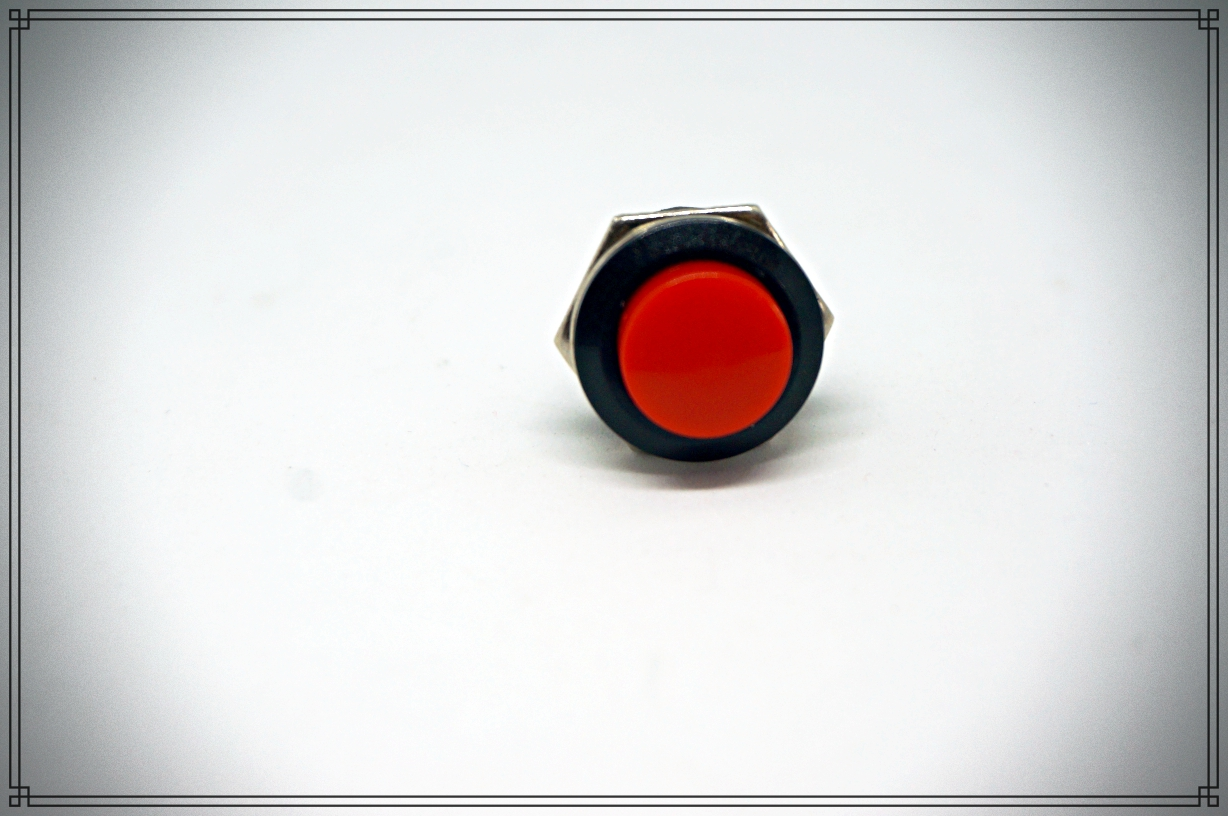 push button switch OFF-(ON) 16mm (สีแดง)