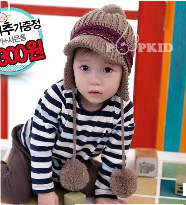 CH105-70 หมวกกันหนาวเด็กมีที่ปิดหูในตัว เนื้อนุ่ม อุ่นสบาย พร้อมส่ง