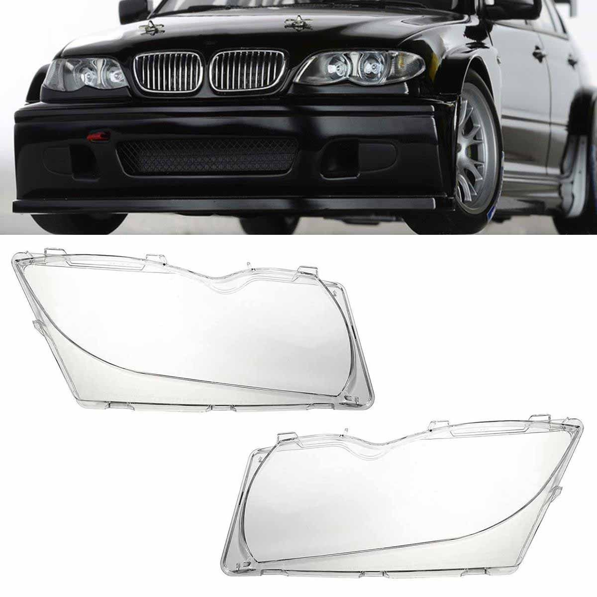 พลาสติกครอบเลนส์ไฟหน้า ฝาครอบไฟหน้า ไฟหน้ารถยนต์ เลนส์โคมไฟหน้า BMW E46 ไฟยก