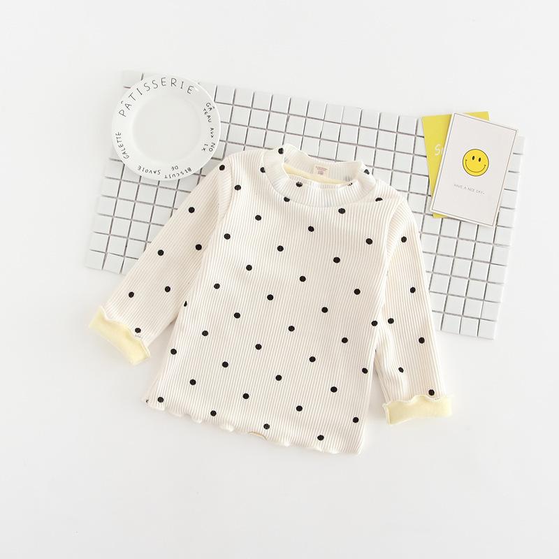 C127-65 เสื้อกันหนาวเด็กบุขนกำมะหยี่ สีขาว ซับขนกำมะหยี่ผ้านิ่ม อุ่น ใส่สบาย size 120,140