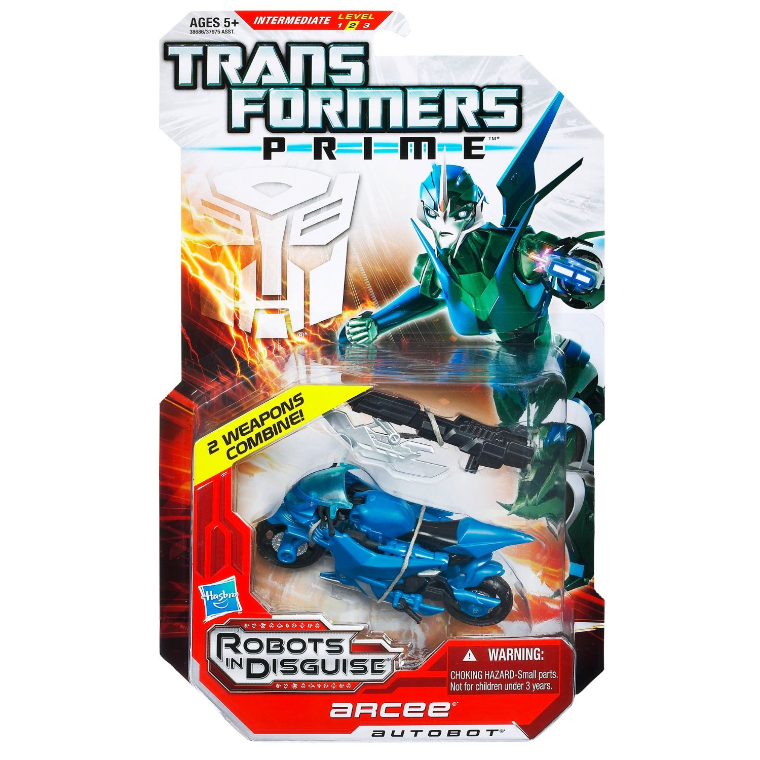 Transformers Prime Robots in Disguise Deluxe Class Autobot Arcee Figure
