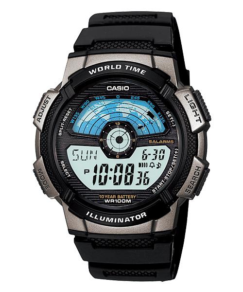 นาฬิกา คาสิโอ Casio 10 YEAR BATTERY รุ่น AE-1100W-1AV